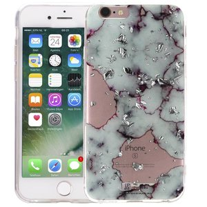 Marmer iPhone 6/6S Hoesje Snippers Marble Paars