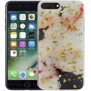 Marmer iPhone 8 Plus/7 Plus Hoesje Snippers Roze
