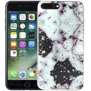 Marmer iPhone 8 Plus/7 Plus Hoesje Snippers Paars