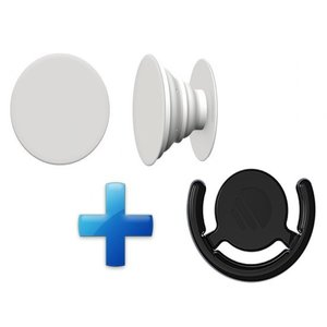 Button in de PopSocket style - Inclusief ophang clip - Voor Telefoon/tablet - Wit