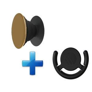 Popsockets Button met Auto houder Goud Chrome