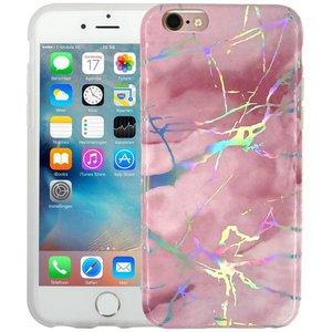 Marmer iPhone 6/6S Hoesje Marble Hologram Roze
