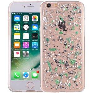 iPhone 6S Glitter Hoesje Snippers Parelmoer Groen