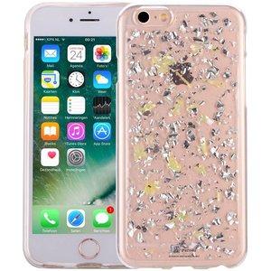 iPhone 6S Glitter Hoesje Snippers Parelmoer Geel