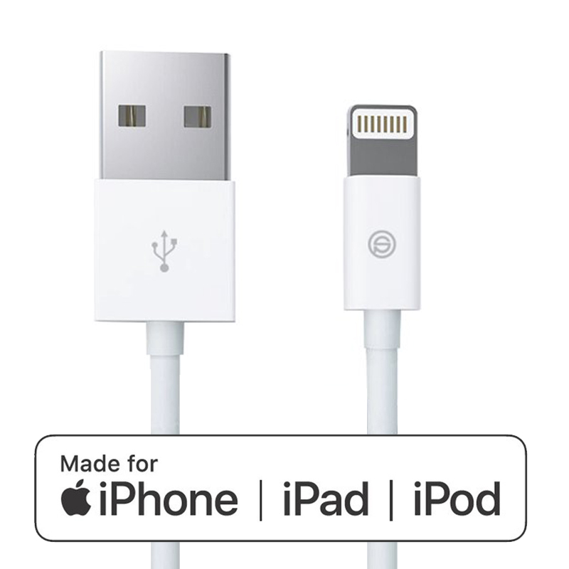 1 meter iPhone MFI lightning kabel wit