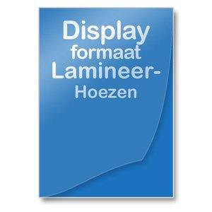 Albyco Lamineerhoezen Displayformaten