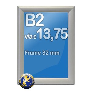 Albyco Kliklijst B2-formaat 50 x 70 cm, frame 32 mm