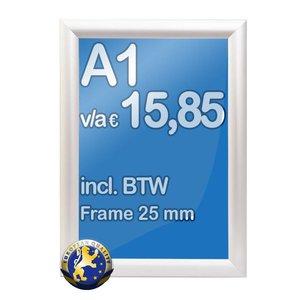 Albyco Kliklijst A1-formaat 59,4 x 84,1 cm, frame 25 mm