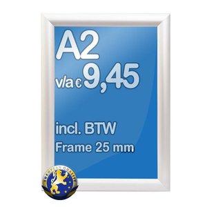 Albyco Kliklijst A2-formaat 42 x 59,4 cm, frame 25 mm