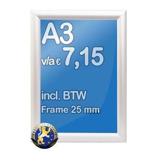 Albyco Kliklijst A3-formaat 29,7 x 42 cm, frame 25 mm