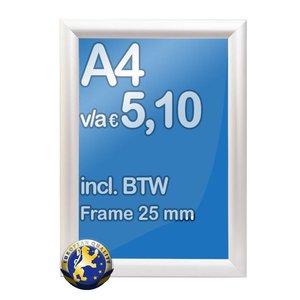 Albyco Kliklijst A4-formaat 21 x 29,7 cm, frame 25 mm