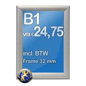 Albyco Kliklijst B1-formaat 70 x 100 cm, frame 32 mm