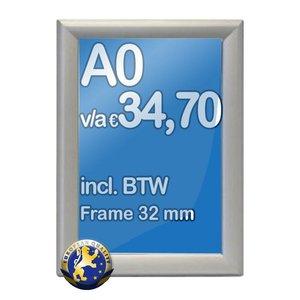 Albyco Kliklijst A0-formaat 84,1 x 118,9 cm, frame 32 mm