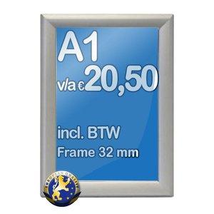 Albyco Kliklijst A1-formaat 59,4 x 84,1 cm, frame 32 mm