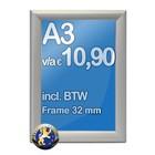 Albyco Kliklijst A3-formaat 29,7 x 42 cm, frame 32 mm