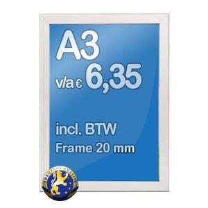 Albyco Kliklijst A3-formaat 29,7 x 42 cm, frame 20 mm
