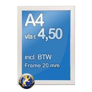 Albyco Kliklijst A4-formaat 21 x 29,7 cm, frame 20 mm
