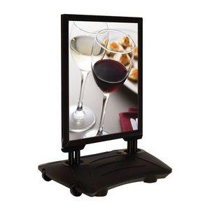 Albyco Stoepbord luxe A1 Zwart