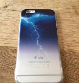 Apple iPhone 6/6s backcover doorzichtig met bliksem