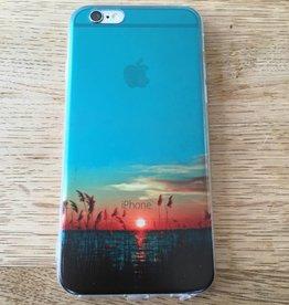 Apple iPhone 6/6s backcover doorzichtig met zonsondergang