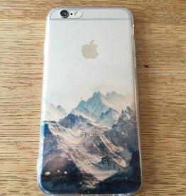 Apple iPhone 6/6s backcover doorzichtig met bergen