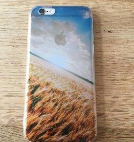 Apple iPhone 6/6s backcover doorzichtig met tarwe land