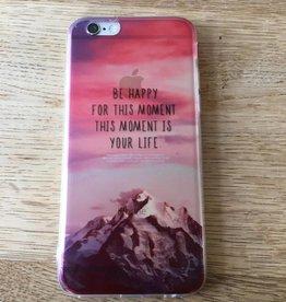 Apple iPhone 6/6s backcover doorzichtig met tekstopdruk
