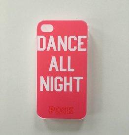 Apple iPhone 4/4s backcover Pink met tekstopdruk (roze)