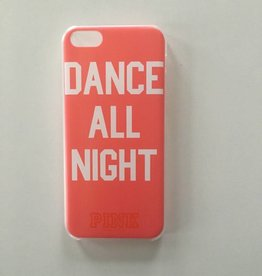 Apple iPhone 5/5s backcover Pink met tekstopdruk (roze)