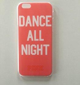 Apple iPhone 6/6s backcover Pink met tekstopdruk (roze)