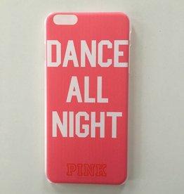 Apple iPhone 6 plus/6s plus backcover Pink met tekstopdruk (roze)