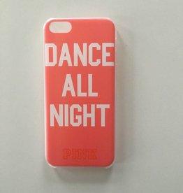 Apple iPhone 5c backcover Pink met tekstopdruk (roze)