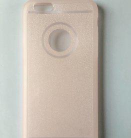 Apple iPhone 6/6s flexibele transparante backcover met roze glitters