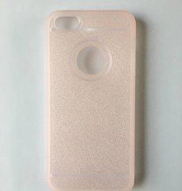 Apple iPhone 5/5s flexibele transparante backcover met roze glitters