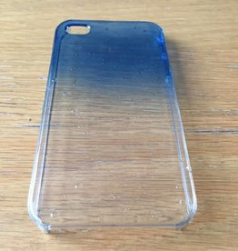 Apple iPhone 4/4s backcover transparant met druppels (blauw)