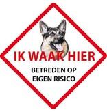 Wachhund Sticker - Hier wache ich