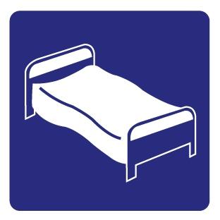 Bett Aufkleber