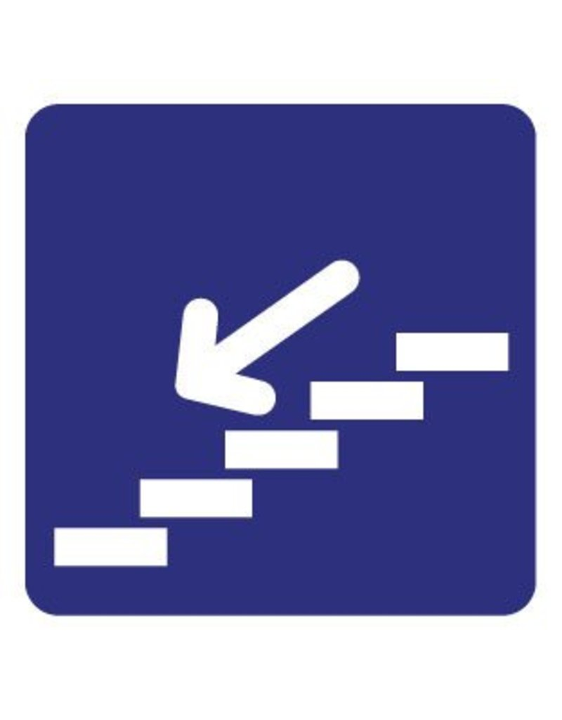 Dans les escaliers autocollant