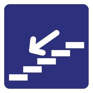 Down stairs Sticker