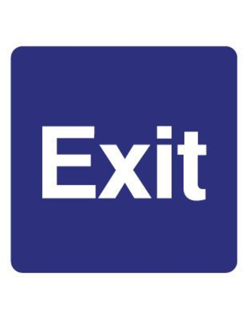 Exit Aufkleber