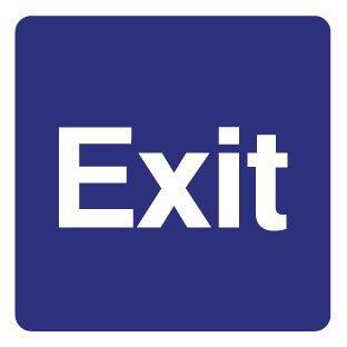 Exit autocollant