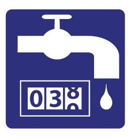 Locatie watermeter Sticker