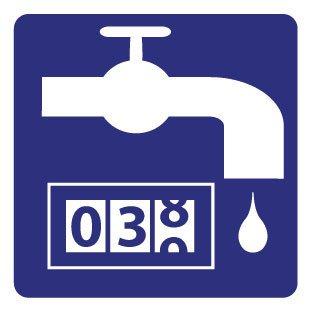 Location Water Meter Sticker