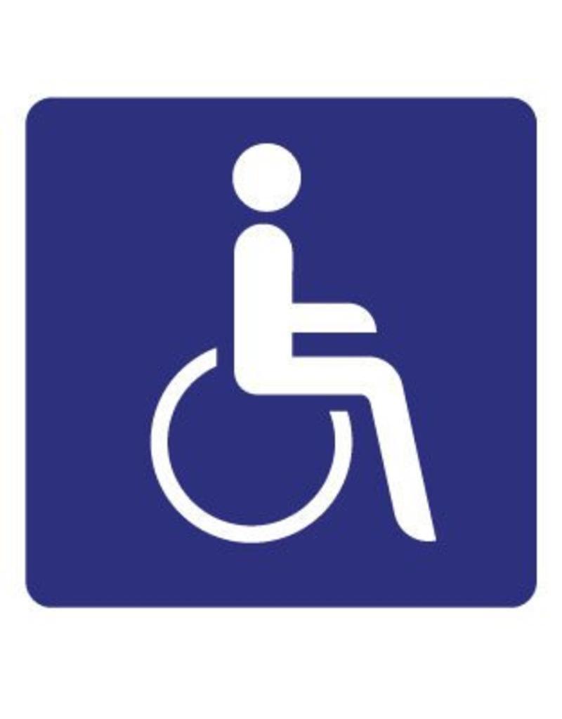 Pegatina en silla de ruedas