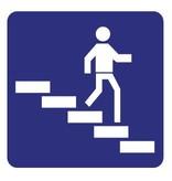 Treppe abwärts Aufkleber