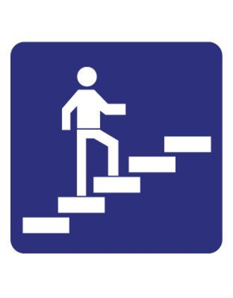 Pegatina de subiendo por las escaleras