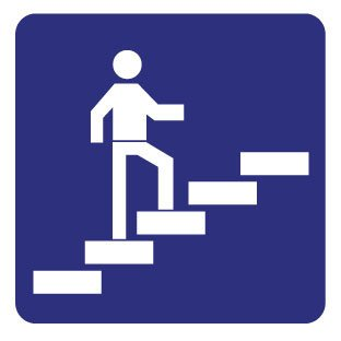 Treppe aufwärts Aufkleber