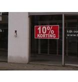 Rectangular 10% sale sticker