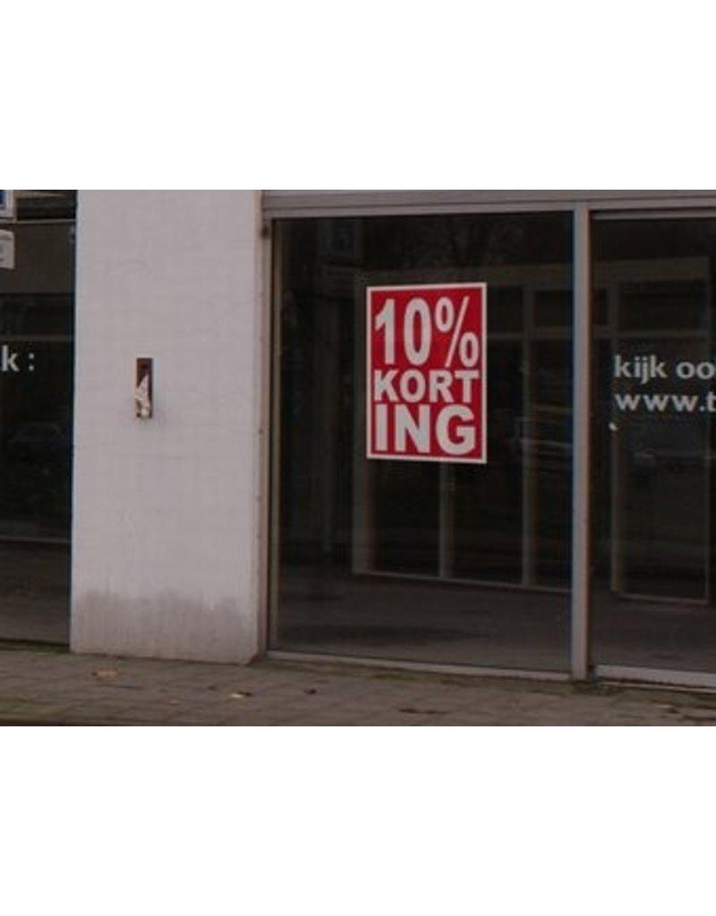 Square 10% sale sticker