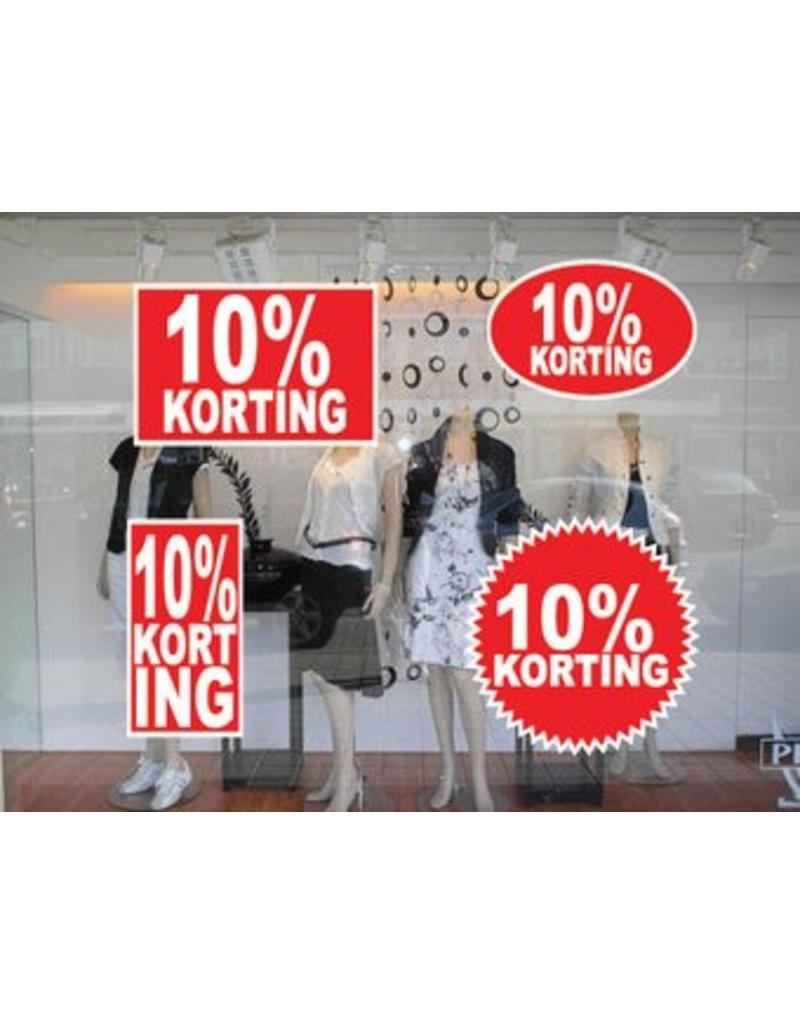 Set 10% korting stickers (4 stickers)